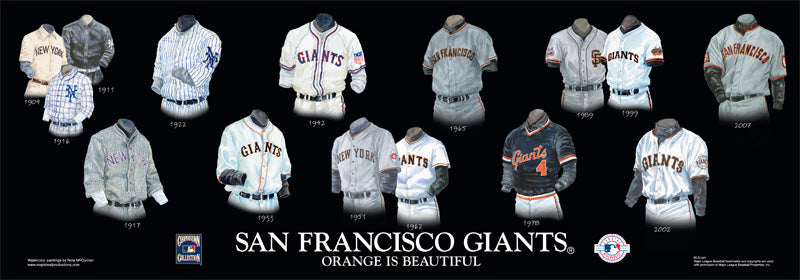 San Francisco Giants Uniform Print