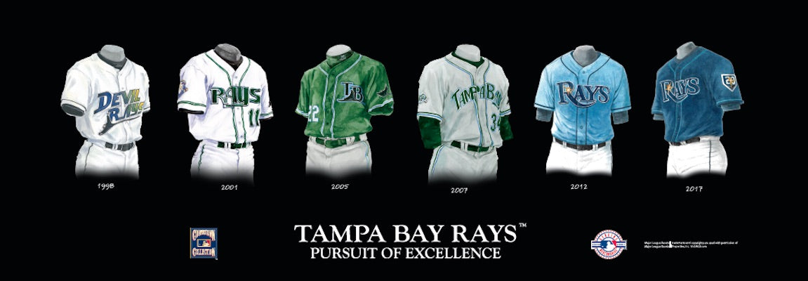 Tampa Bay Rays uniform evolution poster
