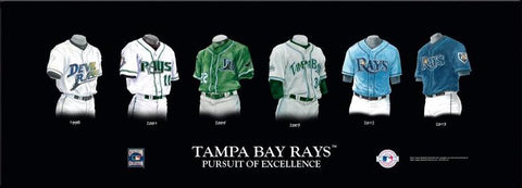 Tampa Bay Rays Uniform Print