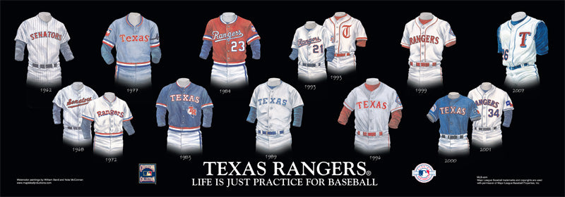 Texas Rangers Uniform Print