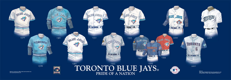Toronto Blue Jays Uniform Print