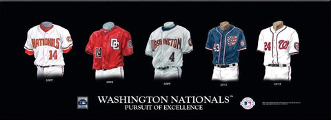 Washington Nationals Uniform Print