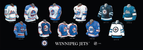 Winnipeg Jets uniform evolution poster