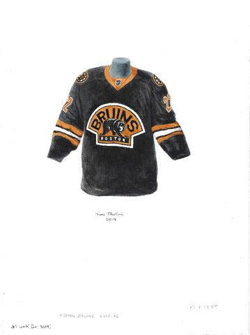 Boston Bruins 2015-16 - Heritage Sports Art - original watercolor artwork