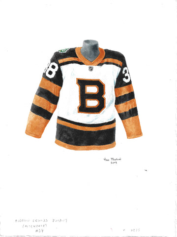 Boston Bruins 2018-19 - Heritage Sports Art - original watercolor artwork