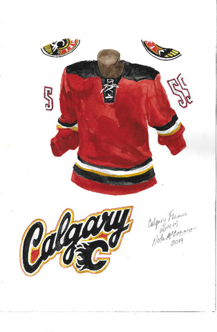 Calgary Flames 2014-15 - Heritage Sports Art - original watercolor artwork
