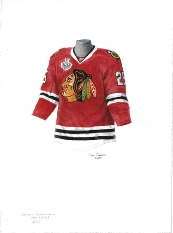 Chicago Blackhawks 2014-15 - Heritage Sports Art - original watercolor artwork