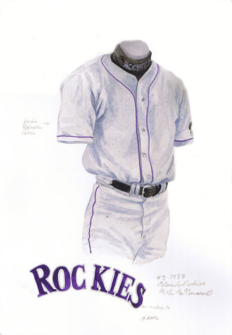 Colorado Rockies 1997 - Heritage Sports Art - original watercolor artwork - 2