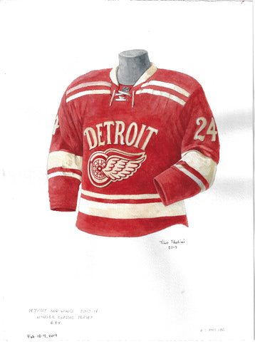 Detroit Red Wings 2013-14 - Heritage Sports Art - original watercolor artwork