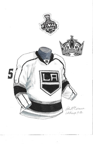 Los Angeles Kings 2011-12 - Heritage Sports Art - original watercolor artwork