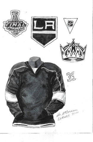 Los Angeles Kings 2013-14 - Heritage Sports Art - original watercolor artwork