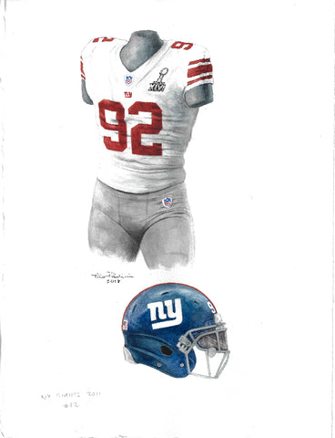New York Giants 2011 - Heritage Sports Art - original watercolor artwork