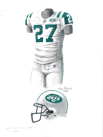 New York Jets 2010 - Heritage Sports Art - original watercolor artwork