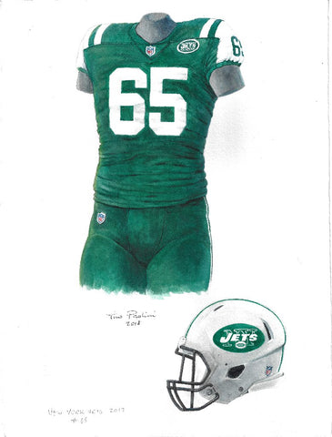 New York Jets 2017 - Heritage Sports Art - original watercolor artwork
