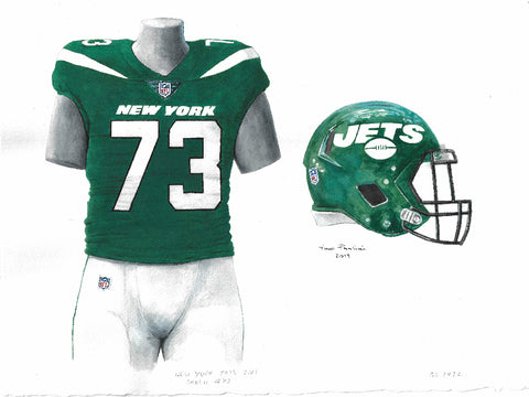 New York Jets 2019 - Heritage Sports Art - original watercolor artwork