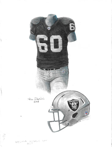 Oakland Raiders 2011 - Heritage Sports Art - original watercolor artwork