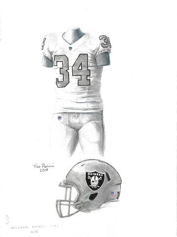 Oakland Raiders 2016 - Heritage Sports Art - original watercolor artwork