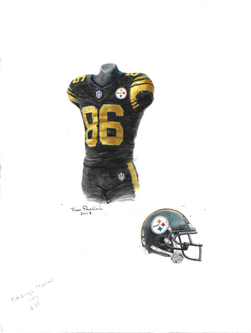Pittsburgh Steelers 2017 - Heritage Sports Art - original watercolor artwork