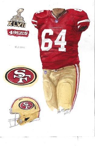 San Francisco 49ers 2012 - Heritage Sports Art - original watercolor artwork
