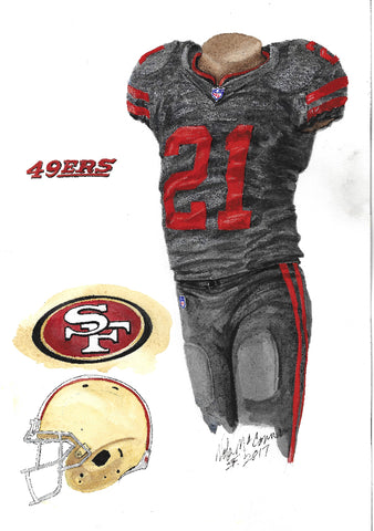 San Francisco 49ers 2017 - Heritage Sports Art - original watercolor artwork