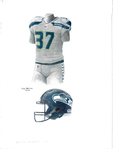 Seattle Seahawks 2017 - Heritage Sports Art - original watercolor artwork