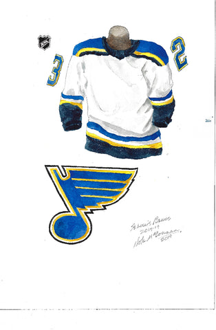 St. Louis Blues 2018-19 - Heritage Sports Art - original watercolor artwork