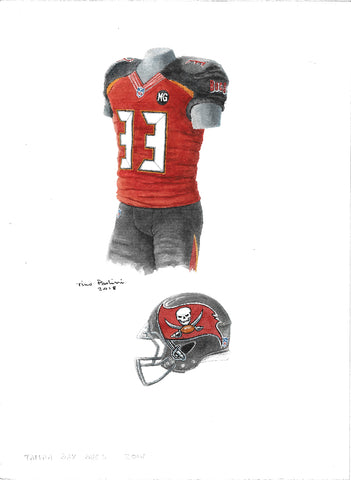Tampa Bay Buccaneers 2014 - Heritage Sports Art - original watercolor artwork
