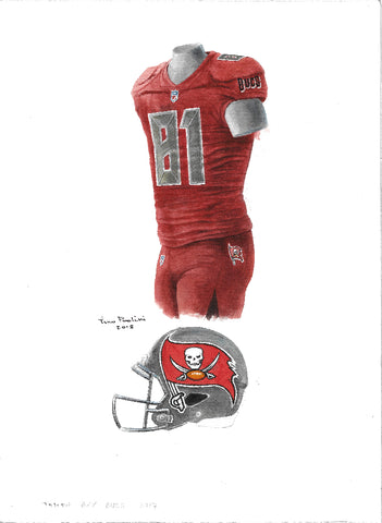Tampa Bay Buccaneers 2017 - Heritage Sports Art - original watercolor artwork
