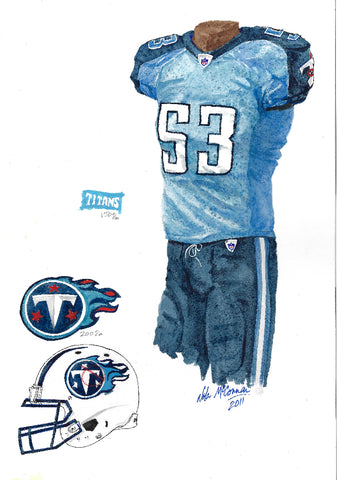 Tennessee Titans 2011 - Heritage Sports Art - original watercolor artwork