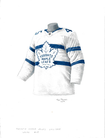 Toronto Maple Leafs 2017-18 - Heritage Sports Art - original watercolor artwork