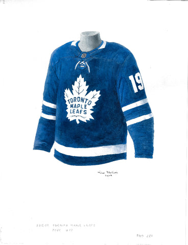 Toronto Maple Leafs 2018-19 - Heritage Sports Art - original watercolor artwork