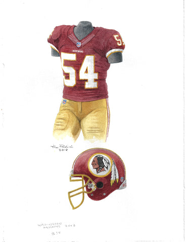 Washington Redskins 2012 - Heritage Sports Art - original watercolor artwork