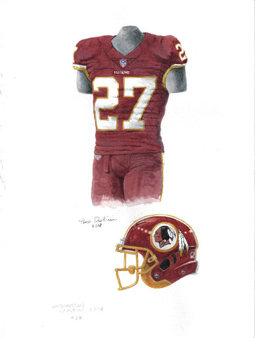 Washington Redskins 2017 - Heritage Sports Art - original watercolor artwork