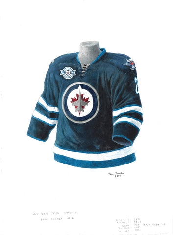 Winnipeg Jets 2011-12 - Heritage Sports Art - original watercolor artwork