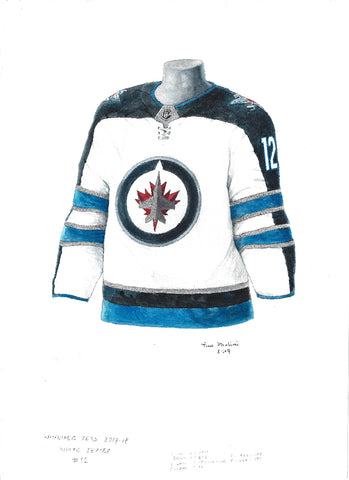 Winnipeg Jets 2017-18 - Heritage Sports Art - original watercolor artwork