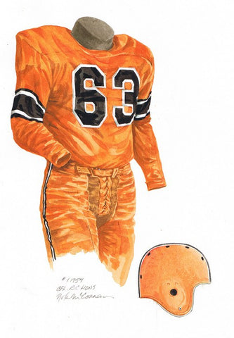 B.C. Lions 1954 - Heritage Sports Art - original watercolor artwork - 1