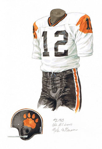 B.C. Lions 1963 - Heritage Sports Art - original watercolor artwork - 1
