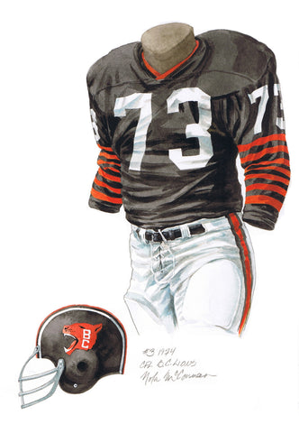 B.C. Lions 1974 - Heritage Sports Art - original watercolor artwork - 1