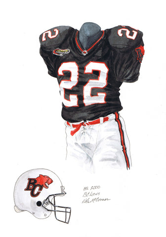 B.C. Lions 2000 - Heritage Sports Art - original watercolor artwork - 1
