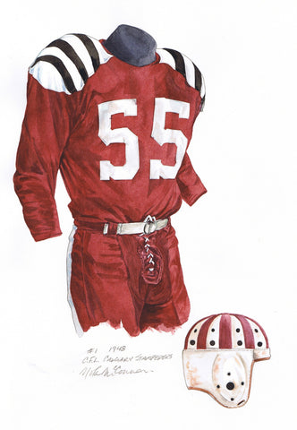 Calgary Stampeders 1948 - Heritage Sports Art - original watercolor artwork - 1