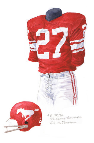 Calgary Stampeders 1970 - Heritage Sports Art - original watercolor artwork - 1