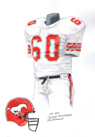 Calgary Stampeders 1983 - Heritage Sports Art - original watercolor artwork - 1