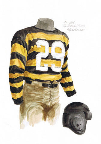 Hamilton Tiger-Cats 1935 - Heritage Sports Art - original watercolor artwork - 1