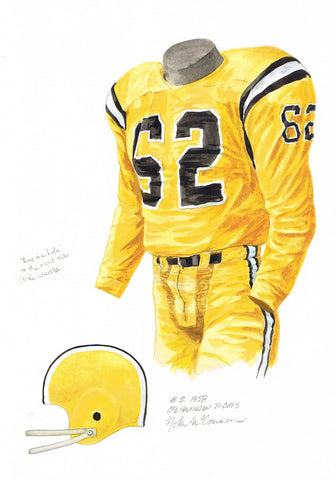 Hamilton Tiger-Cats 1957 - Heritage Sports Art - original watercolor artwork - 1