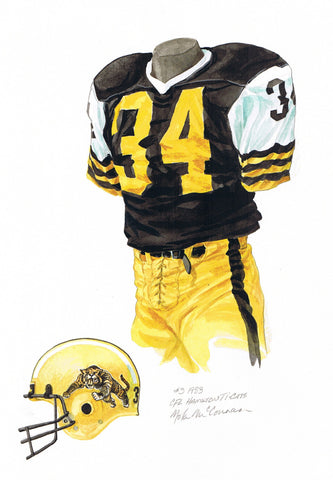 Hamilton Tiger-Cats 1983 - Heritage Sports Art - original watercolor artwork - 1