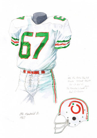 Montreal Alouettes 1970 - Heritage Sports Art - original watercolor artwork - 1