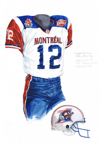 Montreal Alouettes 2002 - Heritage Sports Art - original watercolor artwork - 1