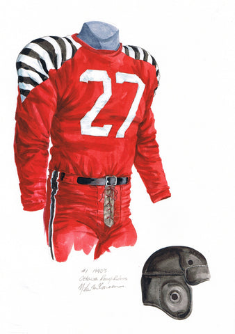Ottawa Redblacks 1940 - Heritage Sports Art - original watercolor artwork - 1