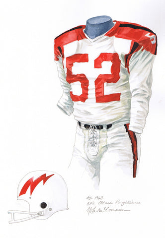 Ottawa Redblacks 1962 - Heritage Sports Art - original watercolor artwork - 1