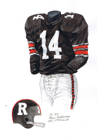Ottawa Redblacks 1969 - Heritage Sports Art - original watercolor artwork - 1
